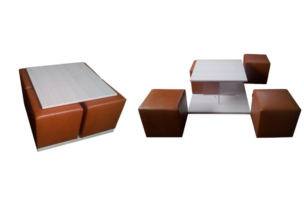 Tavolino con pouf | Mobilificio Fratelli Camisasca